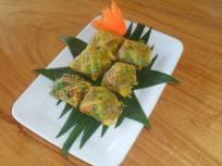 Egg omellette parcels priang Prai restaurant