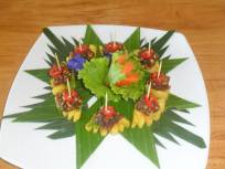 Pineapple starters priang Prai restaurant