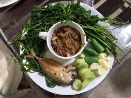 Eggplant, Garlic,Horseradish and a Mai Tai…
