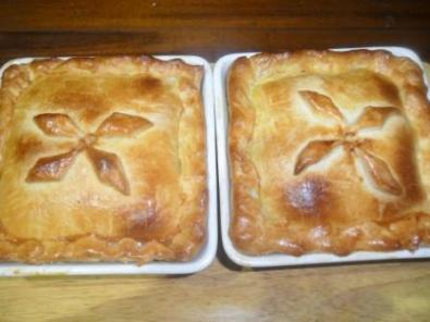 two meat pies