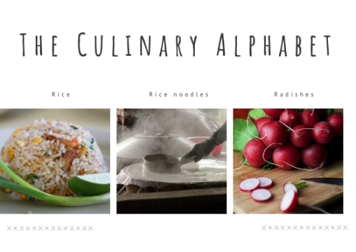 THE CULINARY ALPHABET R