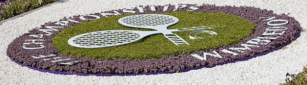 wimbledon logo in flowers