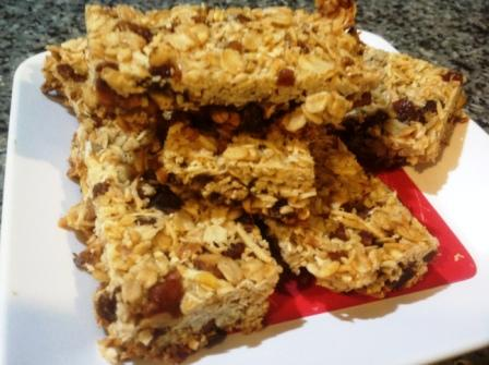 Apricot home made snack bars