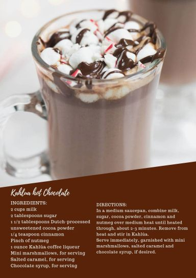 KAHLUA HOT CHOCOLATE RECIPE