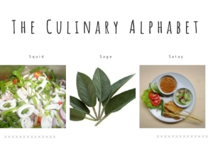 Header letter S Culinary Alphabet