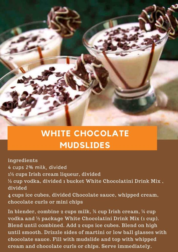 White Chocolate Mudslides