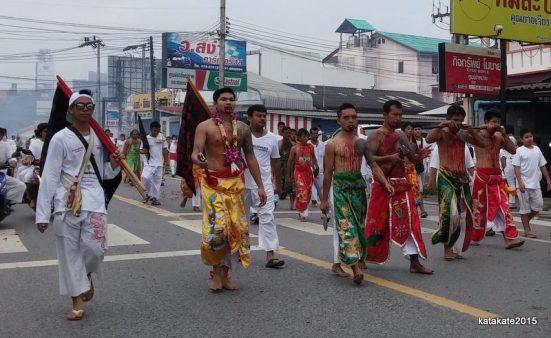street procession phuket vegetarian festival