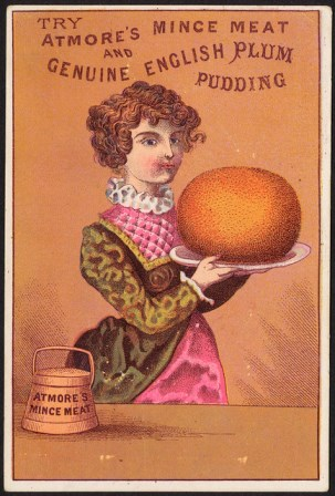 advert for plum pudding