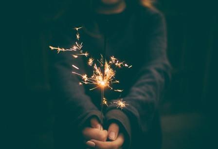 child with sparkler