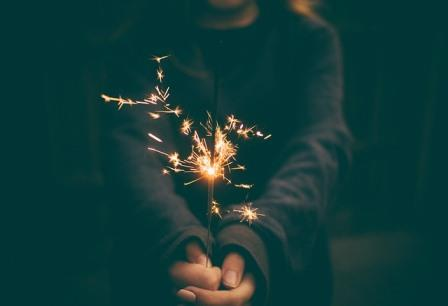 child with sparkler