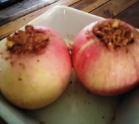 baked apple walnuts