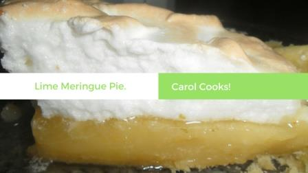 Lime lemon meringue Pie