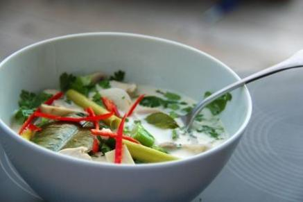 Thai tom kha gai chicken soup