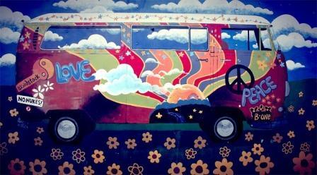hippie vw camper van-1203391_640