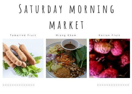 Saturday Morning Market 28st March