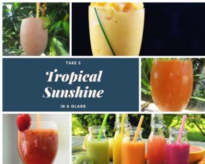 tropical sunshine in a glass header