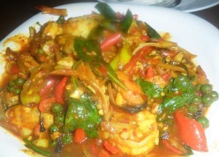 spicy squid stir fry