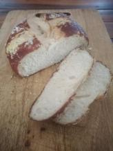 home made pretzel bread